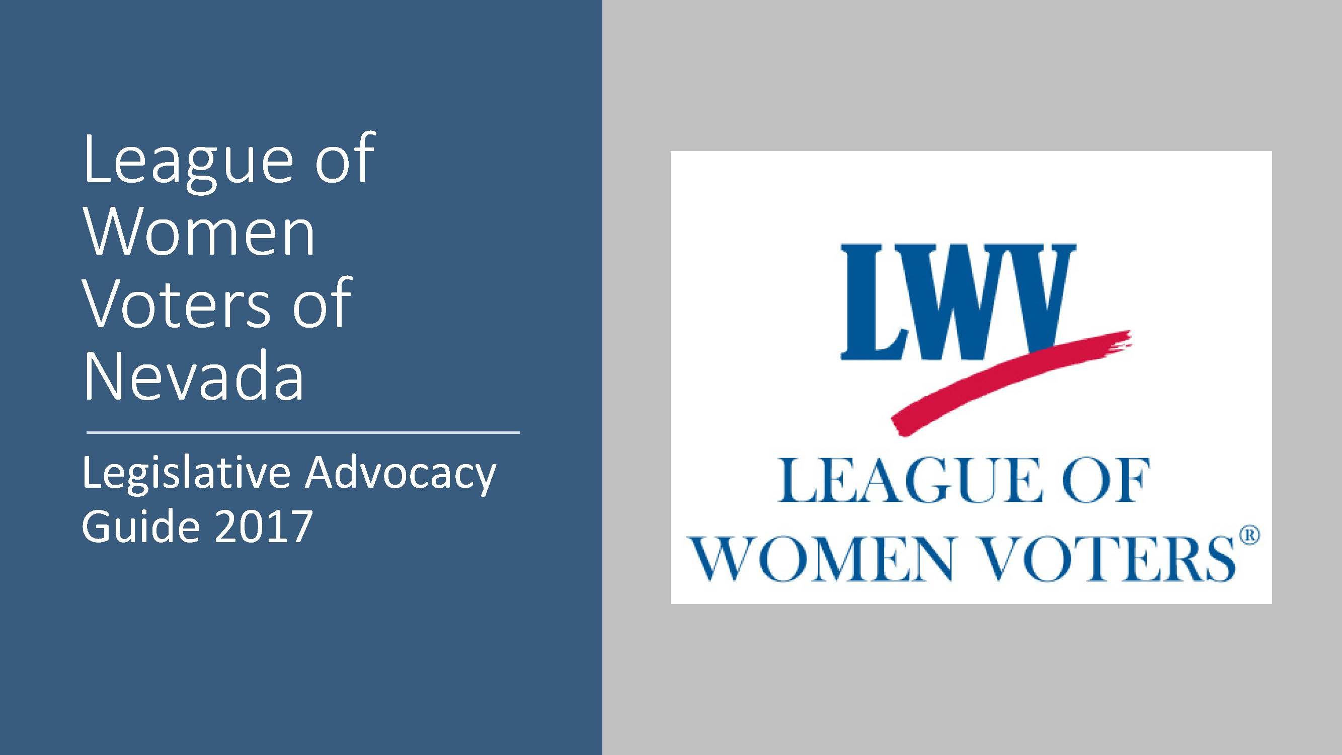 Lwvlvv 2017 Advocacy Guide League Of Women Voters Of Nevada