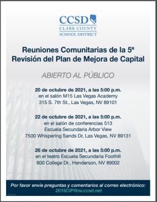 CIP Revision 5 - Public Input Flyer - Spanish